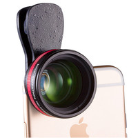 LIEQI HD No Distortion Phone 2X Telescope Portrait Lens with Universal Clip for iPhone 6/6s Plus IOS Samsung HUAWEI Smartphone