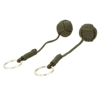2pcs Paracord Emergency Survival Tool Keychain