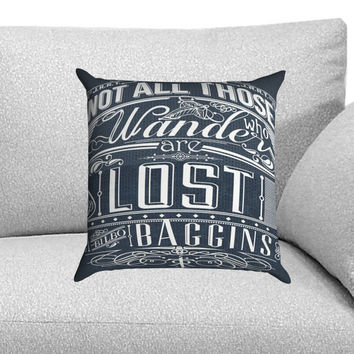Not All Who Wander Are Lost Custom Pillow Case for One Side and Two Side
