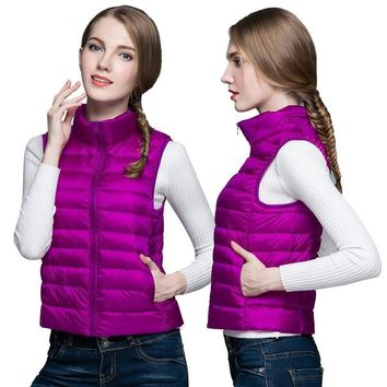 ultra light womens jacket puffer vest sleeveless coat