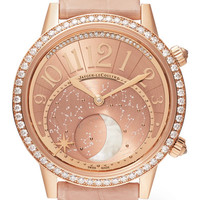 Jaeger-LeCoultre - Rendez-Vous Moon 36 alligator, rose gold and diamond watch