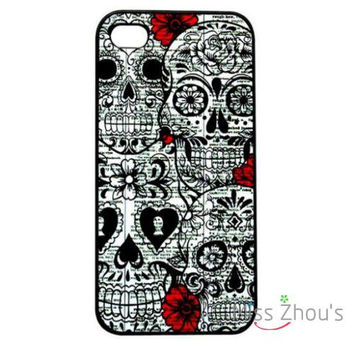 For iphone 4/4s 5/5s 5c SE 6/6s plus ipod touch 4/5/6 back skins mobile cellphone cases cover Sketched Gothic Skull