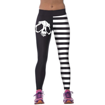 Fashion 3D Printed Women High Waist Fitness Pants Stretch Fitness Leggings
