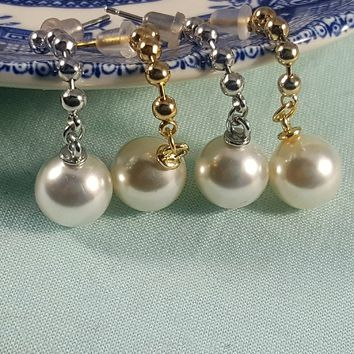Acrylic Pearl Drop Earrings