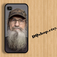Si Robertson - iPhone 4 Case iPhone 5 Case Duck Dynasty Uncle si