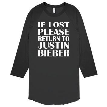 If Lost Please Return To Justin Bieber Baseball T-shirt