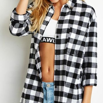 Drive Me Wild Plaid Top