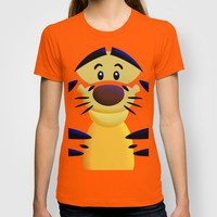Cute Orange Cartoons Tiger Adult Tee T-shirt by Three Second