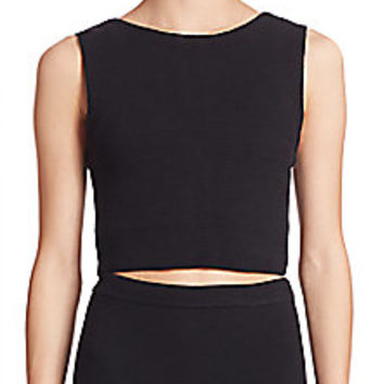 Alice and Olivia - Aretha Cropped Top - Saks Fifth Avenue Mobile
