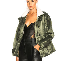 Marissa Webb Bryson Jacket With Sherpa Lining in Spruce Combo | FWRD