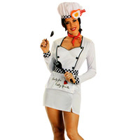 Escante Womens Tasty Chef Halloween Party Dress Costume