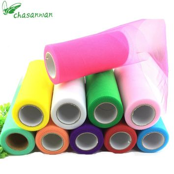 CHASANWAN 15cm 25yds Baby Shower Tulle Rolls Crafts Wedding Decoration DIY Tulle Roll Spool Event Party Supplies Decorative .B