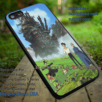 Howl's Moving Castle iPhone 6s 6 6s+ 5c 5s Cases Samsung Galaxy s5 s6 Edge+ NOTE 5 4 3 #cartoon #anime #howl'smovingcastle dt