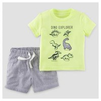 Baby Boys' 2pc Dino Explorer T-Shirt Set Lime - Just One You™ Made by Carter's® : Target