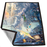 Disney Peter Pan Art Design 7cb73659-2ed4-4290-9fba-951ad7a68c76 for Kids Blanket, Fleece Blanket Cute and Awesome Blanket for your bedding, Blanket fleece *02*