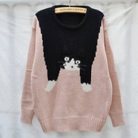 80S vintage cat sweater