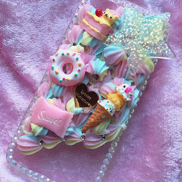 (Ready To Ship) Sweet Themed Decoden Phone Case For Iphone 5