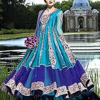 Indian Designer Anarkali, Bridal wear Asian 2013 2014 Clothing Jewelry