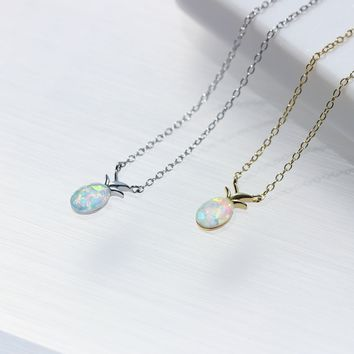 Pineapple Opal Necklace