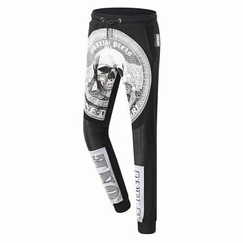 Philipp Plein Women or Men Fashion Casual Pattern Print Pants Trousers