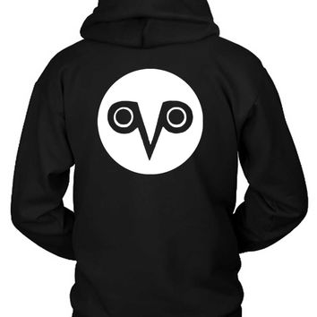 The Weeknd Logo Ovo Logo Spiral Owl Hoodie Two Sided
