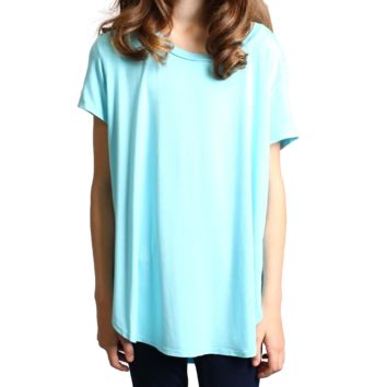 Limpet Shell Short Sleeve High Low Top