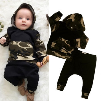 Baby Camo Hoodie + Long Pants 2pc set