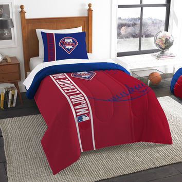 Phillies  Twin Embroidered Comforter & 1 Sham Set