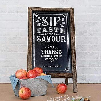 Chalkboard Print Personalized Sign for Rustic Wood Frame Daiquiri Green (Pack of 1)