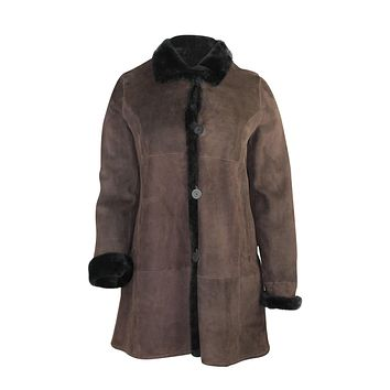 Fitted Suede & Shearling Jacket