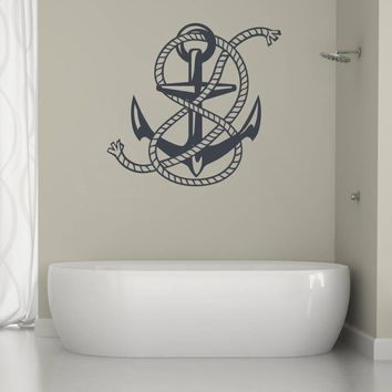 ik1281 Wall Decal Sticker Anchor sea bedroom bathroom