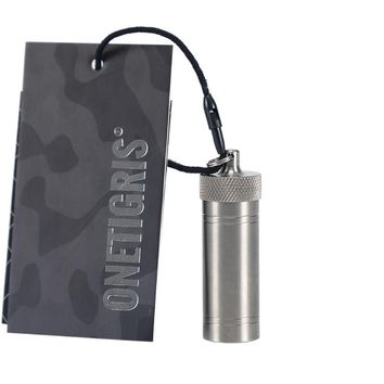 OneTigris Titanium Travel Bill Case Outdoor Mini Pill Holder Waterproof Portable Survival Mini Pill FOB TA2