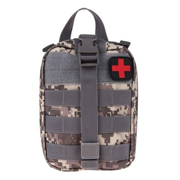 Durable Emergency Kits Bag Tactical Medical First Aid Kit Military Waist Pack Outdoor Camping Travel Tactical Molle Pouch 3color