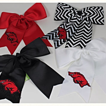 Razorback Girls Cheer Hair Bow or Pony Tail Holder
