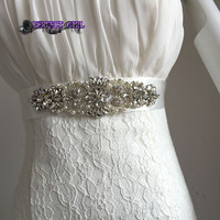 Discount 2016 Real Picture Amazing Crystal Beads Shinny Cheap Promotion Charming Bridal Belt Women Sashes
