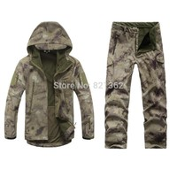 Outdoor Camo Hunting Clothes Breathable Hiking Ruins Camo Clothing Waterproof Hunting Suits