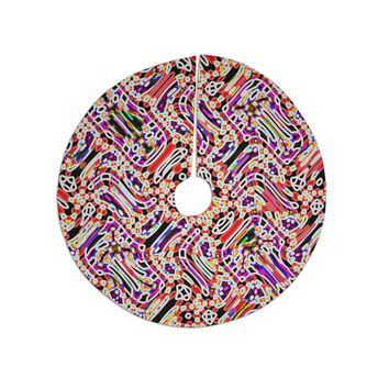 "Dawid Roc ""Camouflage Pattern 2"" Multicolor Abstract Tree Skirt"