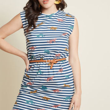 Sugarhill Boutique Sounds About Bright Cotton Dress in Stripes