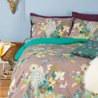 Boho Fowl Play Duvet Cover Set in Full, Queen by Karma Living from ModCloth