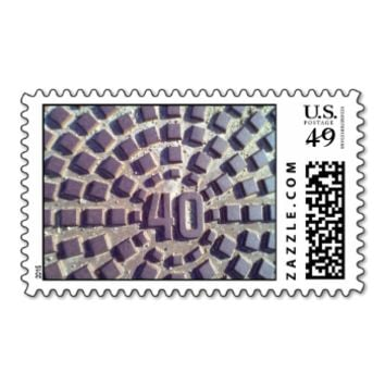 Metal Manhole cover number 40 Stamp