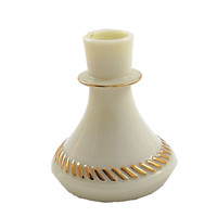 Vintage Wheatonware Custard Glass Candle Holders. with 24KT Gold Herringbone Trim. Wedding and Shower Decor or Gifts. Housewarming