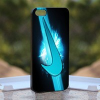 Nike Logo Mint, Print on Hard Cover iPhone 4/4S Black Case