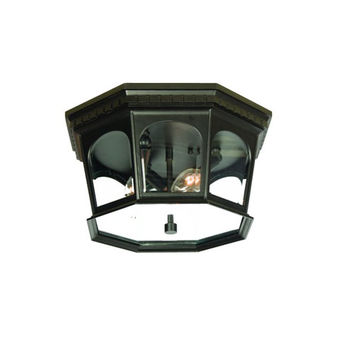 Acclaim Lighting 9515BK Newcastle Matte Black Three-Light 7.5-Inch Outdoor Ceiling Flush Mount