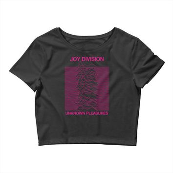 Joy Division Unknown Pleasures Crop Top