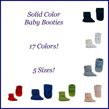 Newborn and Preemie Baby Booties 17 Colors 5 Sizes