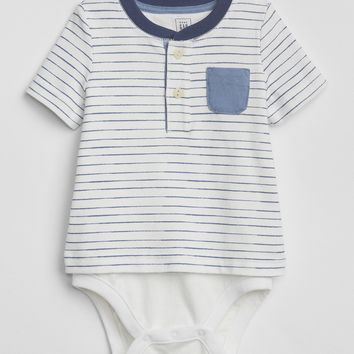 Stripe Henley Body Double|gap
