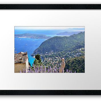 'The Exotic Garden of Eze' Framed Print by victorsboutique