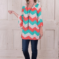 Saturday Fun Day Tunic - Coral