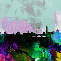 Florence Watercolor Skyline Poster Print by Naxart