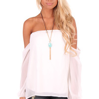 Ivory Off Shoulder Top
